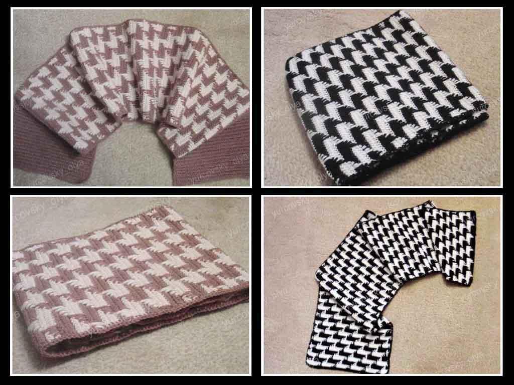 Вязание крючкоммужские шарфы 47