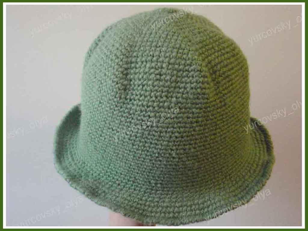 Простая шляпка крючком схема фото 680
