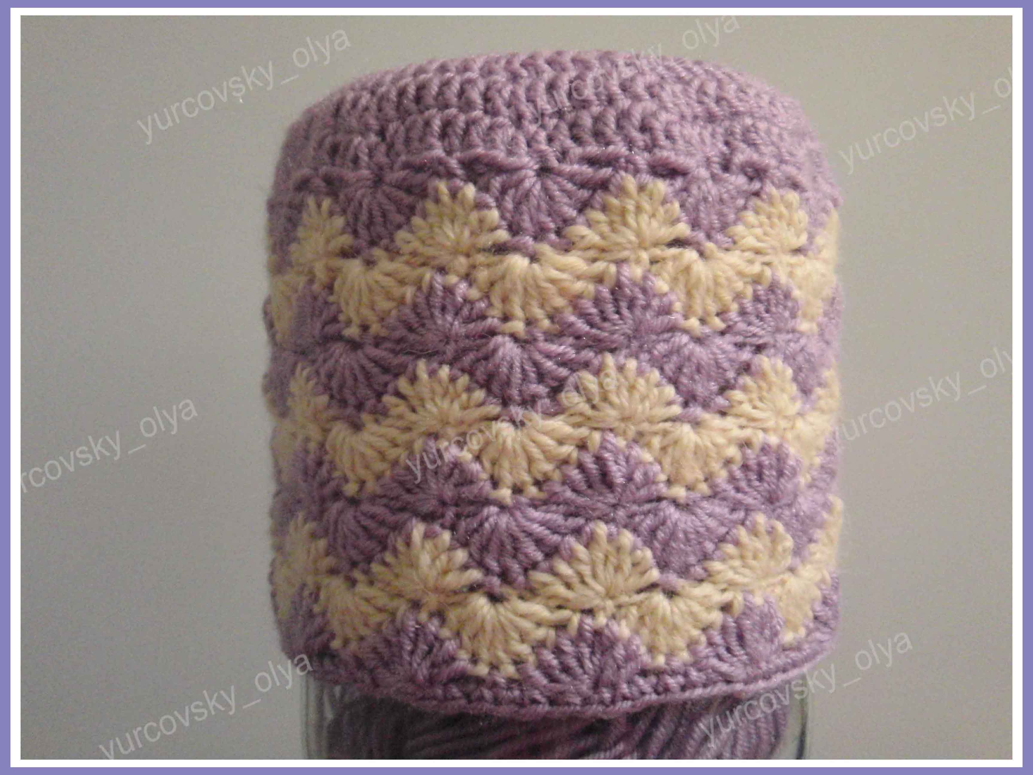 связать шапку для девочки на зиму крючком схема