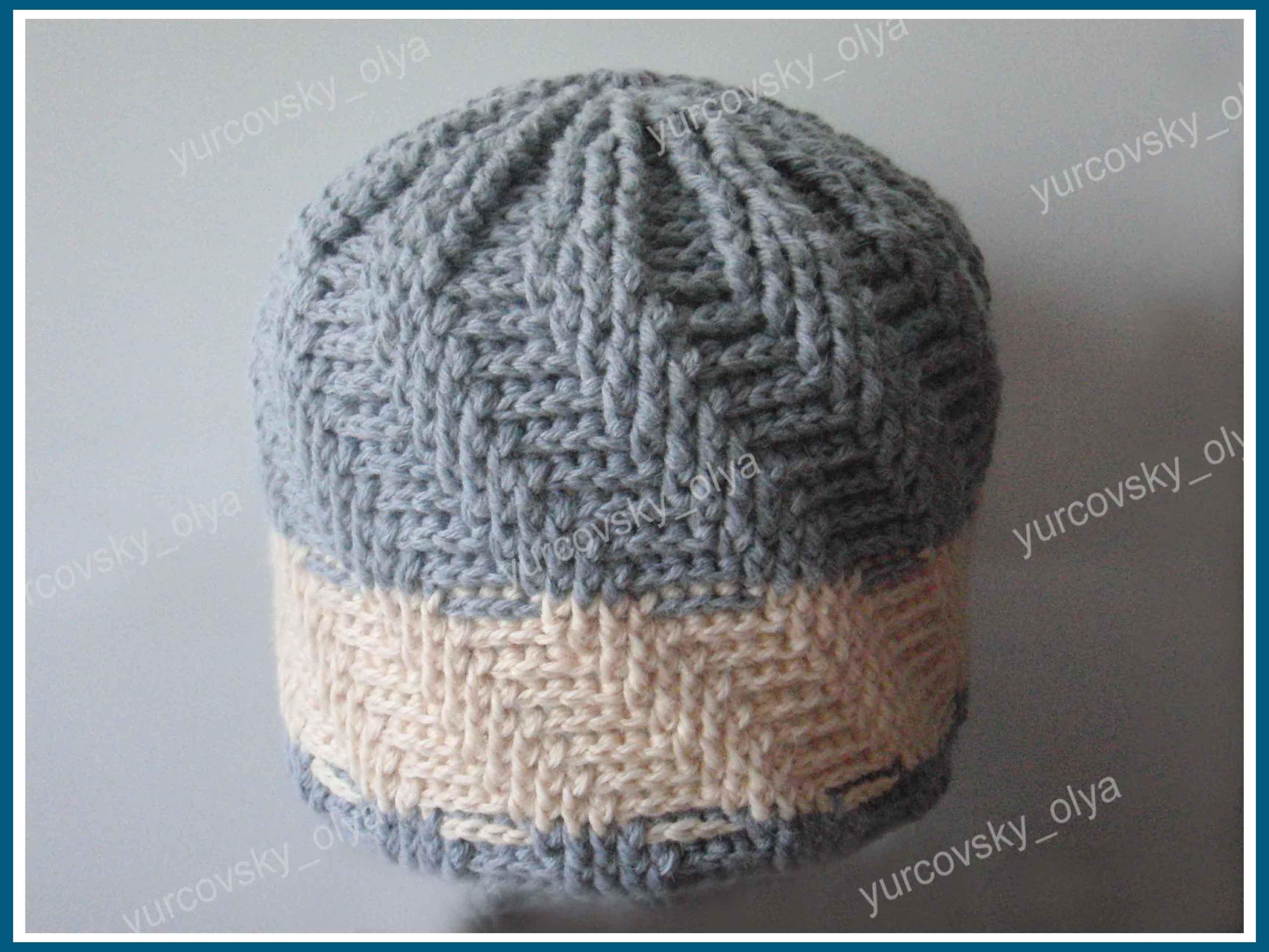 мужские вязанные шапки схема