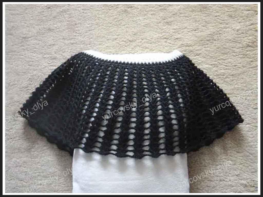 Вязание крючком накидки на плечи для женщины