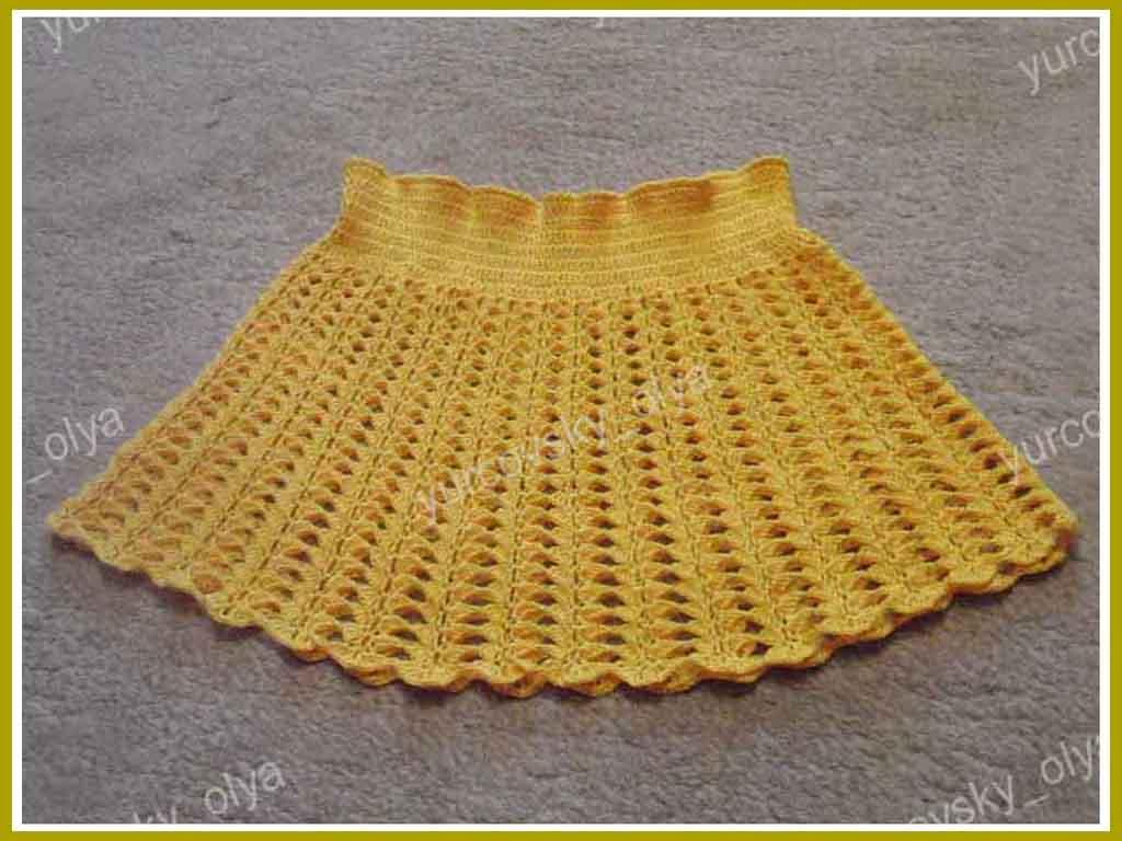 Вязаная резинка крючком для юбки