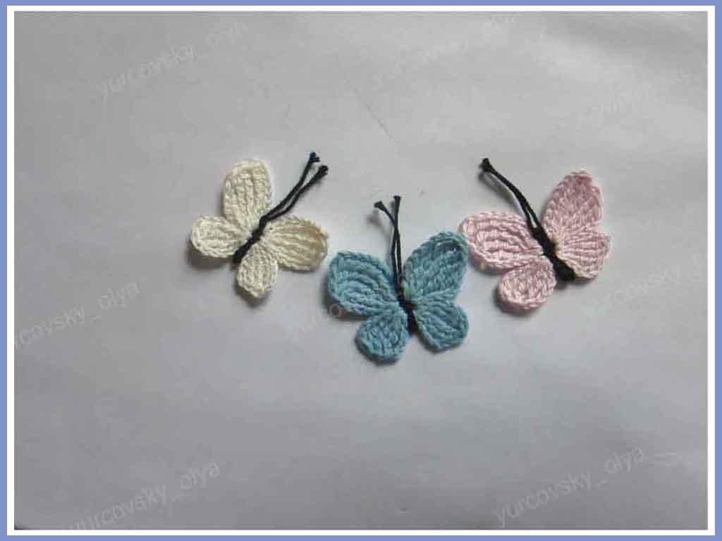 Как связать крылья бабочки