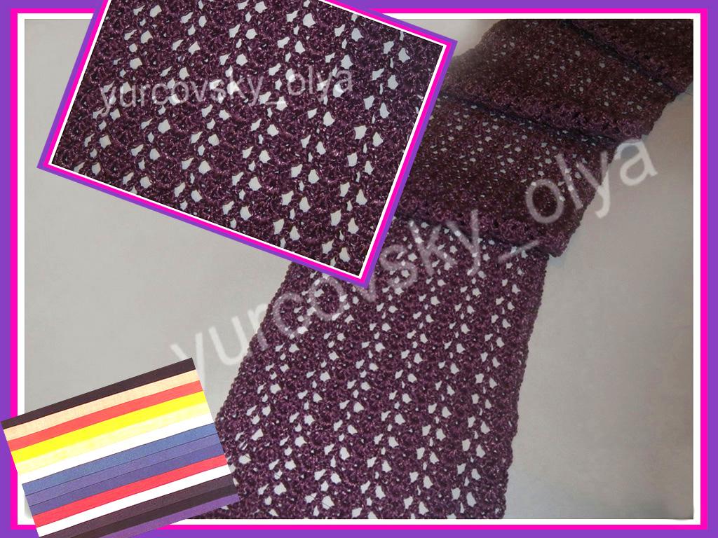 вязание крючком ажурного шарфа для начинающих видео
