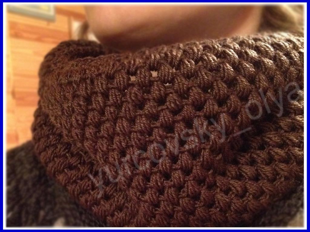 Yurcovsky Olya видео курс как связать красивый шарф снуд крючком