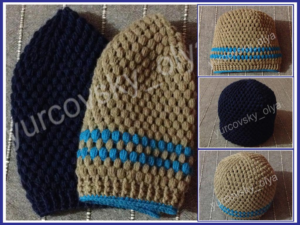 Yurcovsky Olya вязанные крючком шапки шапочки береты шляпы