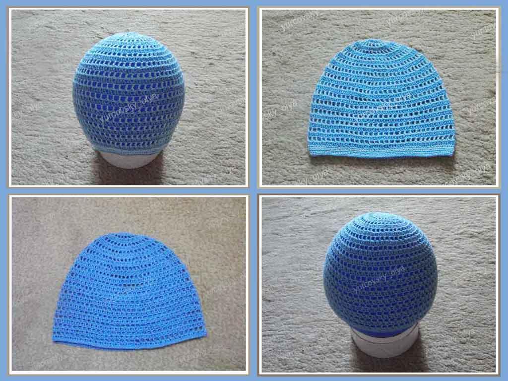 Вязание крючком шапки только фото